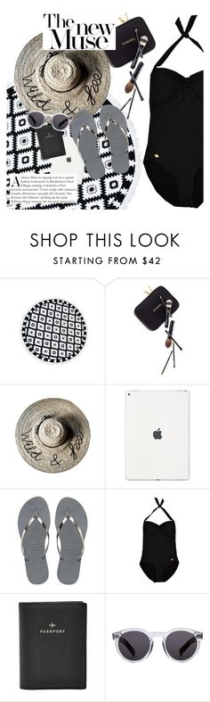 """""""the new muse"""" by sanddollardubai on Polyvore featuring Guide London, Havaianas, Sunseeker, FOSSIL and Illesteva"""