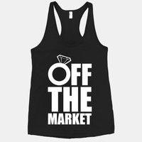 Off The Market (Black Racerback Tank)