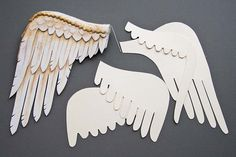 "Well, I decided to try making angel wings from white craft foam. I thought quilted fabric wings would look too ""cloth-dollish"", and not enough like real feather wings, so decided to give the craft..."