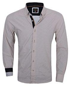 Italiaans overhemd lichtbruin geruit nu online bestellen bij Italian-Style.nl.