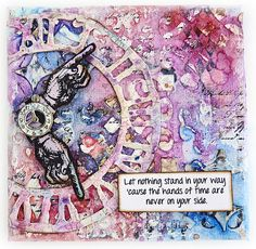 Bumblebees and Butterflies: The Hands of Time #decoartprojects #mixedmedia #decoartmedia #time #inspirational