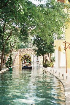 Canal in Playa del Carmen Mexico Occidental Grand Xcaret canal running through the hotel