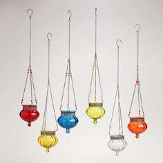 Glass & Metal Melon Tealight Candleholders