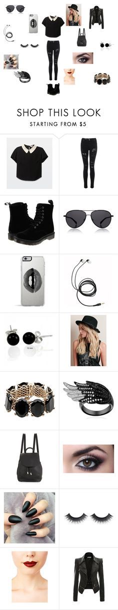 """""""trending boutique"""" by littlepasta17 ❤ liked on Polyvore featuring Dr. Martens, The Row, Lipsy, Bling Jewelry, Valentino, rag & bone and Jeffree Star"""