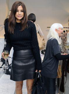Christine Centenera // leather skirt
