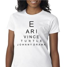 Entourage Eye Chart Tshirt - Entourage T-shirt
