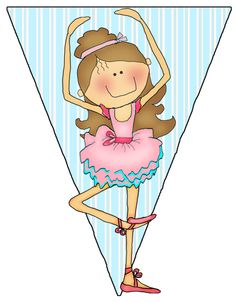 "Parties and Patterns: Printable Banner ""Ballerina"""