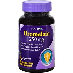 Natrol Bromelain - 250 mg - Chewable - 30 Tablets -- Read more at the image link.
