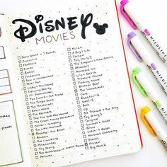 #Disney lovers check this #disneymovie watch list from  Have you seen all of them? #Repost @thedoodleplanner ・・・ I have a feeling you guys are going to love this one, because I do!! ❤️❤️ I decided that I want to watch all of the nostalgic Disney