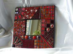 Mosaik Spiegel Bild rot