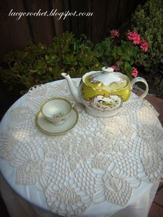 Shortcut to Blocking Doilies and Free Vintage Pattern link