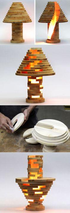 Оригинальная лампа своими руками