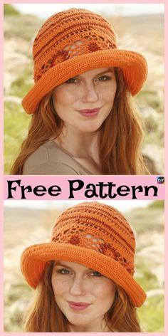 15 Amazing Crocheted Sun Hat Free Patterns #freecrochetpatterns #sunhat