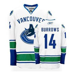 53d62f357 Vancouver Canucks  14 Alex Burrows White Away Jersey Nhl Jerseys