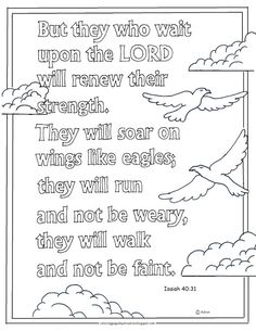 coloring pages for kids by mr adron printable coloring page they that wait on the lord bible verse isaiah - Isaiah 64 8 Coloring Page