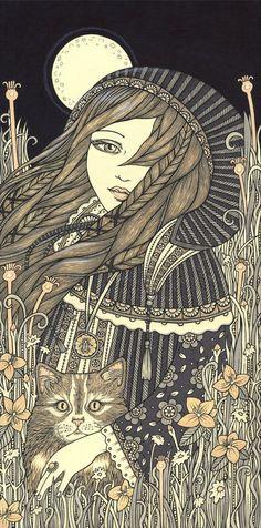 Freyja Signed Ltd Ed Canvas Giclee by AnitaInverarity on Etsy, £90.00