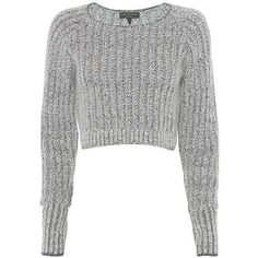 rag & bone Makenna Crop Sweater (2,350 MXN) ❤ liked on Polyvore featuring tops, sweaters, cropped sweater, white cropped sweater, pullover sweater, long sleeve crop top and long sleeve sweaters