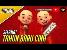 Upin Ipin - Chinese New Year Promo Bar Counter, Chinese New Year, Cat Lovers, Christmas Ornaments, Holiday Decor, Youtube, Meme, Inspiration, Nails