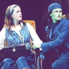 Sisters, Nessarose and Elphaba.