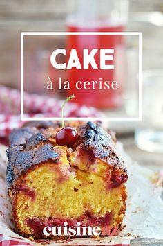 Ce cake à la cerise pour le goûter ou en dessert est facile à préparer. #recette#cuisine#cake#cerise #gouter#dessert #gateau #patisserie Biscuits, Quick Bread, Breads, Cheesecake, Muffin, Fruit, Cooking, Breakfast, Food
