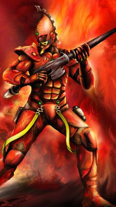 Fire Dragon Exarch by VanishingWalker