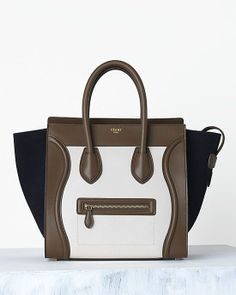 Céline Luggage Handbag - Black / Brown