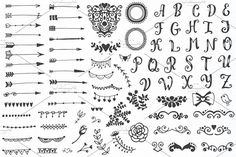 310 elements - Big Vintage Set - Objects - 5
