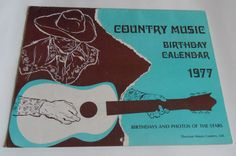 Country Music Birthday Calendar Vintage 1973 and 77 Freddie Hart Ferlin Husky etc Safely Stored For Over 40 Years This Will be a great Gift for any Fan Shipping will be within 2 days of your payment All Sales are Guaranteed Satisfaction We. Birthday Calendar, All Sale, 40 Years, Country Music, Husky, Great Gifts, Birthdays, Fans, Vintage