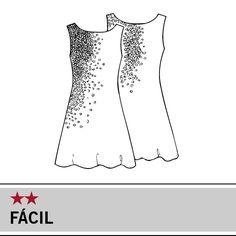 Molde Manequim – Vestido tubinho de paetês. Tam. 38