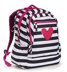 "Start the school year off right with an adorably chic backpack from the Pink-a-Boo collection!  Perfect for all your storage needs for back to school.  A ""peek-a-boo"" heart on the exterior pocket is the finishing touch on this fun backpack.  By Studio C.  Also available at @target stores nationwide! #backtoschool #pink #hearts"