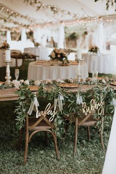 Natural Ethereal Wedding Inspiration Hubby and Wifey Chair Signs for Wedding Head Chairs Wedding Head Table Ideas Wedding Dress Ideas Heather & Chris Wedding Blush Navy Sage Green Wedding Palette heatherpoppie Wedding Ceremony Ideas, Our Wedding Day, Perfect Wedding, Dream Wedding, Wedding Blush, Wedding Beauty, Wedding Favors, Wedding Flowers, Kids At Wedding