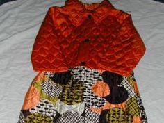 Vtg Retro Mid Century House Coat Robe Quilted by ThenForNow, $24.99