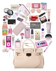 """What's In My Bag?"" by designbecky ❤ liked on Polyvore featuring art"