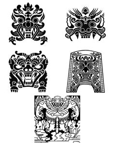 전통문양1 Korean Traditional, Traditional Art, Korean Art, Asian Art, Motif Design, Book Design, Chinese Armor, Korean Tattoos, Chinese Dragon Tattoos