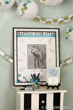 Capture the names of all the special guests on your wedding day with a signature mat!