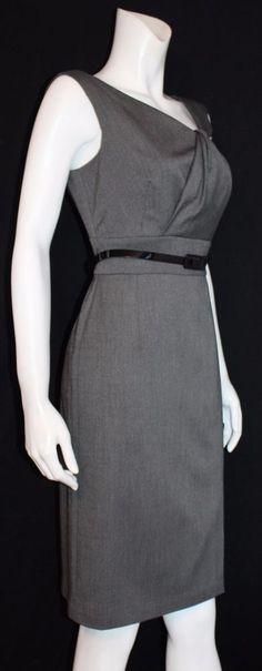 $148. WHITE HOUSE BLACK MARKET Gray Fully Lined Sleeveless Career Dress Size 6 #WHITEHOUSEBLACKMARKET #EmpireWaist #WeartoWork