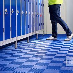 Kleen-Tile by Kleen-Tex - Interlocking wet area safety floor tile for poolside, sauna and shower room. Floor Mats, Tile Floor, Shopping Websites, Beautiful Space, Safety, Flooring, Shower, Room, Blue Prints