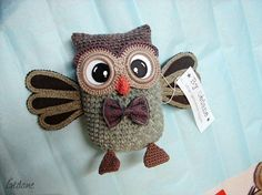 crochet owl | French language, not sure if there is a pattern or not