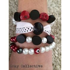 College Themed Sets Red & Black by GrayCollective on Etsy, $26.00
