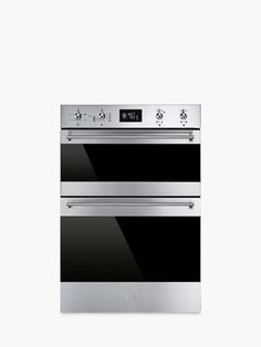 Buy Smeg Classic Built-In Multifunction Double Oven, Stainless Steel from our Built in Ovens range at John Lewis & Partners. Door Grill, Power Bill, Stainless Steel Oven, Built In Ovens, Oven Range, Wipe Away, Save Energy, Glass Door