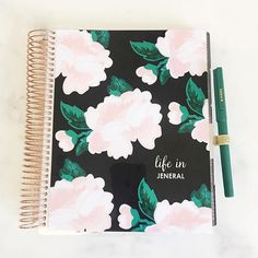 Slightly obsessed with our new personalized @erincondren LifePlanner that launches today! Those rose gold coils And that's just the outside!  #ECLifeplanner