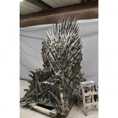 I'm not sure this life size Game of Thrones Iron Throne replica matches my drapes, but I want it anyway. $30,000
