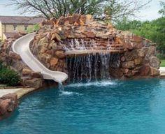 Waterfall slide combo