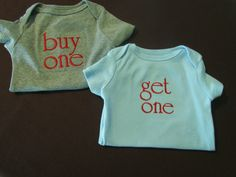 For Twins  Buy One Get One.  Twin announcement.  by hophopstudio, $15.00