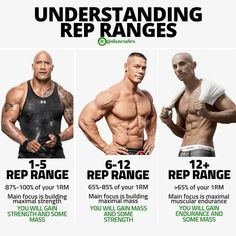 When working out, it is important to understand rep ranges. How many reps should… When working out, it is important to understand rep ranges. How many reps should I do for gaining muscle? Should I go to failure? 300 Workout, Gym Workout Chart, Gym Workout Tips, Push Pull Workout Routine, Fitness Workouts, Gewichtsverlust Motivation, Weight Training Workouts, At Home Workouts, Hiit Workouts For Men