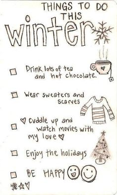 Things to do this winter.