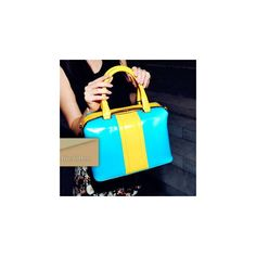 Color-Block Satchel ($34) ❤ liked on Polyvore