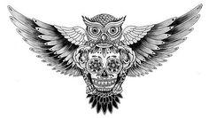 тату сова эскиз - Поиск в Google