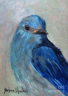 Mountain Bluebird Painting  - Mountain Bluebird Fine Art Print