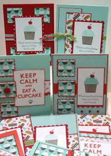 Sweet Shop and Cupcake stamps: not really a OSW (?) but good inspiration for some of the cupcake scrapbook paper waiting patiently